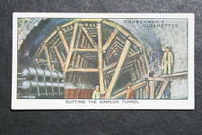 Simplon Tunnel  Italy - Switzerland Construction   Vintage Card # VGC
