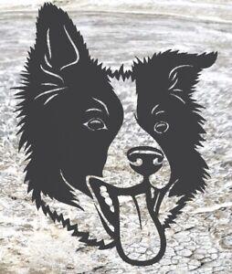 Border collie Dog- Rustic Rusted Pet Garden Sculpture - Solid Steel
