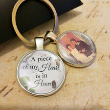 Personalized Custom Photo Keyring  Lost Loved Memorial for Husband Wife Dad Mum