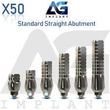 50 Standard Straight Abutment Aesthetic Titanium For Dental Implant Internal Hex