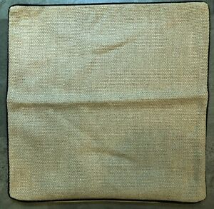 """Pottery Barn Taupe Beige Textured Linen Throw Pillow Cover 20 x 20"""""""