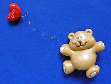 Russ Pin Valentines Vintage Bear Heart Balloon Love Teddy Holiday Brooch