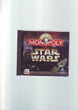 Star Wars Monopolio-PC CD-ROM Juego De Mesa-Edición Original jc con manual en muy buena condición
