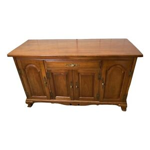 Solid Oak Sidebord With Three Concealed Drawers