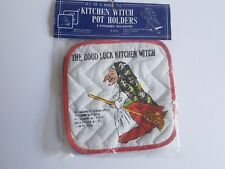 Kitchen Witch Pot Holders Regal in Original Pacakage  Vintage