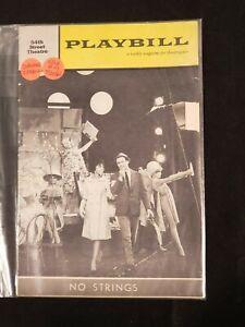 1962 JULY 30 VOL 6 #31 PLAYBILL-54TH STREET THEATRE *NO STRINGS*DIAHANN CARROLL