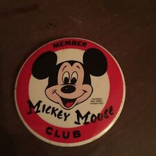 Vintage Walt Disney Productions Member Mickey Mouse Club Pinback