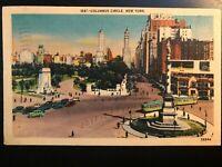 Vintage Postcard>1946>Columbus Circle>New York City>N.Y.