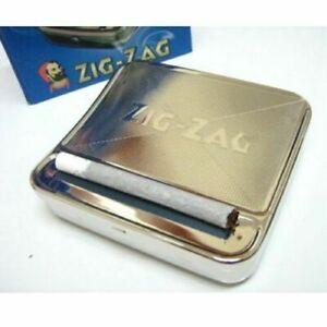 1 Zig Zag TIN Automatic Cigarette Tobacco Rolling Machine Box ZigZag Roller Roll