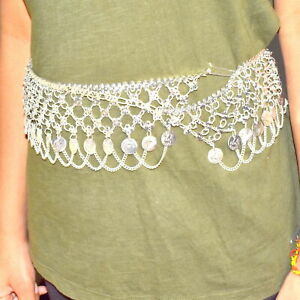 925 Silver Plated Coin Style Kuchi Tribal Bohemian Belly Dance West Belt RC3659