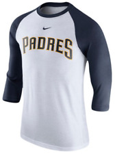Nike Tri Blend San Diego Padres Retro Wordmark Raglan Top shirt MLB baseball men