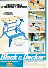 PUBLICITE ADVERTISING 096  1981   Black & Decker   etabli etau  workmate
