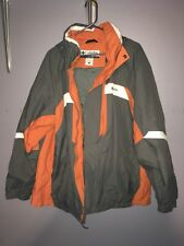 Columbia Jacket Mens XL Winter Coat Gray Orange