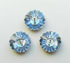 1 Vintage Swarovski 3701 18mm Light Sapphire GF Margarita Crystal Bead/Button