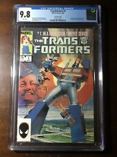 Transformers #1 (1984) - Rare 2nd Print Variant! - CGC 9.8! - White Pages!