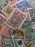 JJ Old Worldwide Stamp Collection of 100, Many Are Pre-Mid 20th Century Classics
