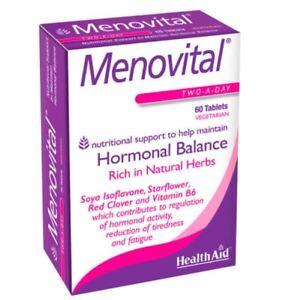HealthAid Menovital Soya Isoflavones, Sage, Dong Quai  60 Vegetarian Tablets