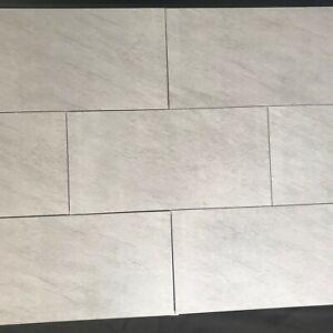 Light Grey Textured Matt 60x30cm Porcelain Wall And Floor Tiles 10m² Job Lot