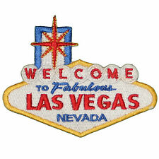 """Welcome to Fabulous Las Vegas Embroidered Iron on or sew on Patch Applique 4"""""""