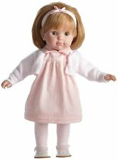 JC Toys Blonde Toddler Doll, 14-Inch Soft Body Doll Dressed Pink & White