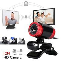 USB 2.0 12MP HD WebCam Web Camera Video with Mic 360° For MSN Skype Desktop PC