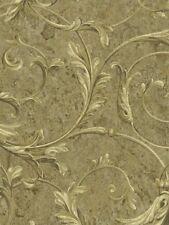 Tapete, Designtapete, Seidenschimmer, Ornamente, Ranken, Gold, Messing,