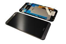 Original HTC One M9 LCD Display Touch Screen Glas Scheibe Rahmen Cover Neu grau