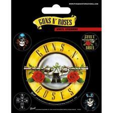 Guns N Roses Stickers x 5 Vinyl Bullet Logo Gift Official Slash Axl Rose