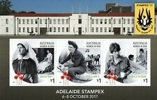 AUSTRALIA 2017-ADELAIDE STAMP SHOW 6-8 OCTOBER  MINI SHEET MUH
