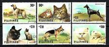 Animaux Chats et Chiens Philippines (190) série complète 6 timbres oblitérés