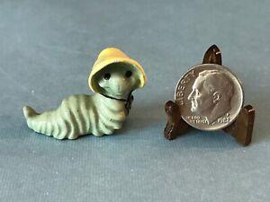 Vintage Hagen Renaker Miniature Ceramic Mama Caterpillar Inch Worm Figurine