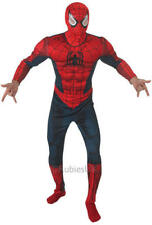 Rubie's Official Spiderman Deluxe With Muscle Chest Adult Costume - Standard SI