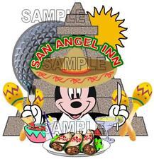 Disney World Epcot Mexico San Angel Inn Restaurant Scrapbook Paper Die Cut Piece