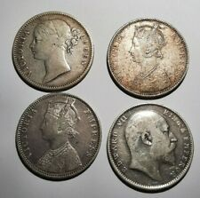 More details for four (4) british india 1 rupee coins, from 1840 - 1905