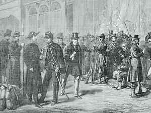 1871 Print FRANCE BORDEAUX - SOLDIERS KEEPING THE STREETS Franco Prussian War