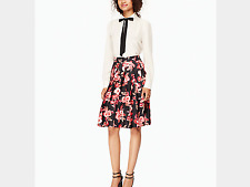 Kate Spade New York Shadow Buds Pleated Skirt, NWT, sz.00, orig$328, Great Buy
