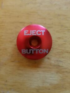 """Eject Button Bicycle Headset Top Cap 1 1/8"""" Black Stem Cap Bolt Bike Red"""