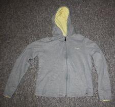 Women's Gray/Yellow Reebok Athletic/Running Jacket Small S