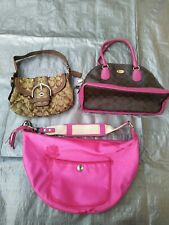 Lot #5 Bags - 3 Pieces Coach Purses for Parts Only