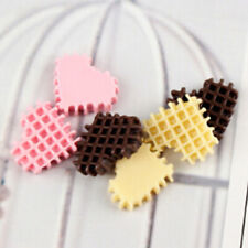 10pcs Love Biscuits Mobile Phone Shell Crystal Mud DIY Resin Accessories