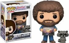 BOB ROSS & RACCOON - JOY OF PAINTING - FUNKO POP - BRAND NEW 25701