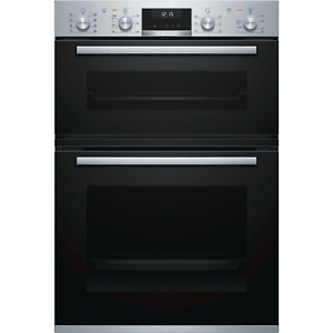 Bosch Serie 6 Multifunction Electric Built In Double Oven - Stainless Steel