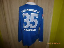 """Karlsruher SC Nike Langarm Matchworn Trikot 2009/10 """"EnBW"""" + Nr.35 Stadler Gr.L"""