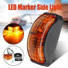 Amber 2 LED Side Marker Light Blinker For Truck Trailer Van Waterproof 12V-24V