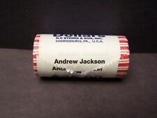 "2008 Andrew Jackson  ""Unopened"" Bank Wrapped Dollar 25 Coin ROLL"