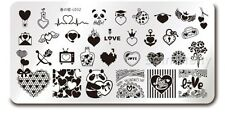 Nail Art Valentine's Day DIY Image Plate Love Heart Manicure Stamping Template