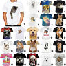 Women/Men 3D T-Shirt Funny Cats Animal Casual Slim Short Sleeve Summer Tops Tee