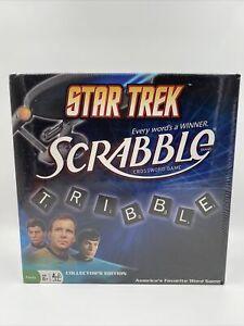 New Star TrekScrabble Collectors Edition Hasbro Fundex 2009 Creased Box *READ*