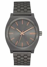 Nixon Women's Time Teller A0452785-00 37mm Gray Dial Stainless Steel Watch