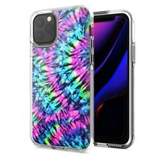 For Apple iPhone 11 Pro Max Hippie Tie Dye Design Double Layer Phone Case